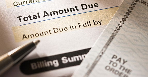 Watch those credit card balances © photastic/Shutterstock.com
