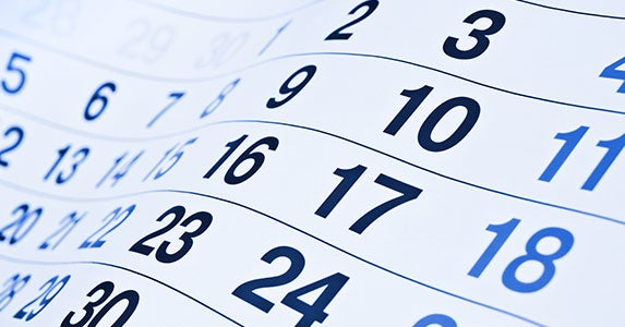 Use your calendar © Korn/Shutterstock.com
