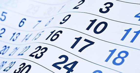 Use your calendar © Korn/Shutterstock.com