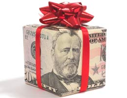 Buy gifts with a financial theme