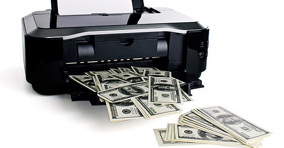 Copying U.S. currency © iStock