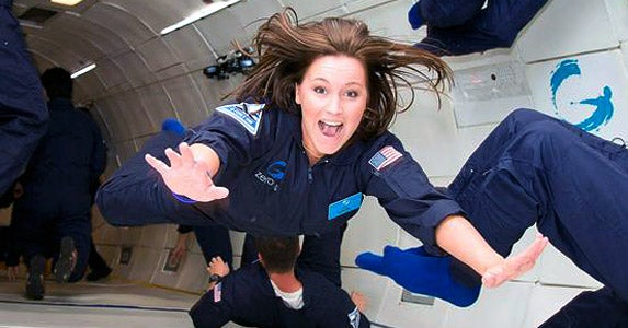 Give the gift of weightlessness | Photo courtesy of Zero Gravity Corporation