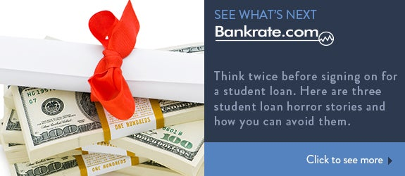 Think twice before signing on for a student loan. Here are three student loan horror stories and how you can avoid them. © Elnur/Shutterstock.com