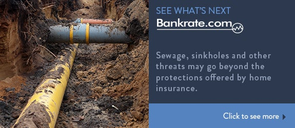 Sewage, sinkholes and other threats may go beyond the protections offered by home insurance. © hans engbers/Shutterstock.com