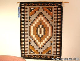 The Navajo artifact used as a throw © Photo by teofilo / CC