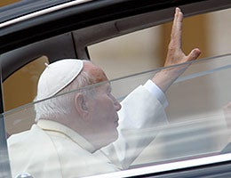 'Holy smoke, the pope just canceled!' © giulio Napolitano/Shutterstock.com