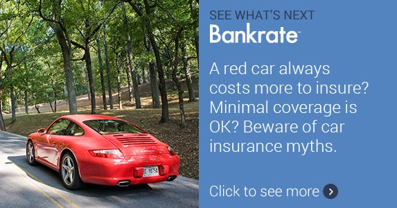 red car always costs more to insure? Minimal coverage is OK? Beware