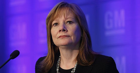 Mary Barra, General Motors © REBECCA COOK/Reuters/Corbis