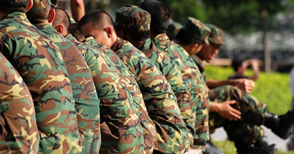 No. 3: Enlisted military personnel © Wong Hock weng/Shutterstock.com