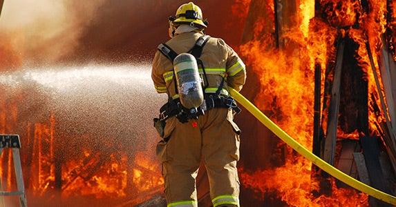 No. 9: Firefighter © TFoxFoto/Shutterstock.com
