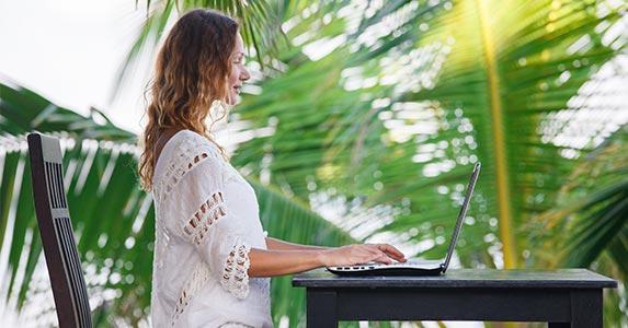 Work at home in your PJs? | Hvoenok/Shutterstock.com