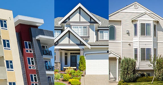 What type of home will you buy? © Vladislav Gurfinkel/Shutterstock.com, © karamysh/Shutterstock.com, © alexmisu/Shutterstock.com