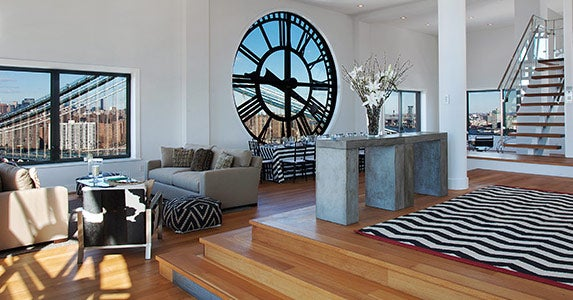 Clock-tower penthouse | Photo courtesy of Frank Castelluccio, The Corcoran Group