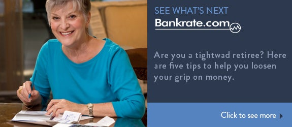 Are you a tightwad retiree? Here are five tips to help you loosen your grip on money.