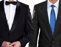 Lower expense ratios and other costs | Tuxedo © Discovod/Shutterstock.com; business suit © Odua Images/Shutterstock.com