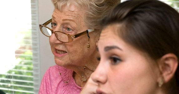 Seniors living near universities