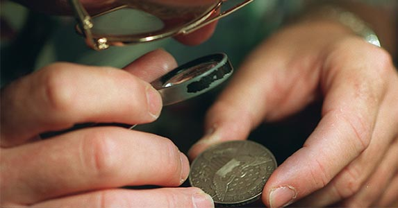 Heads up on coins   Robert Lachman/Getty Images