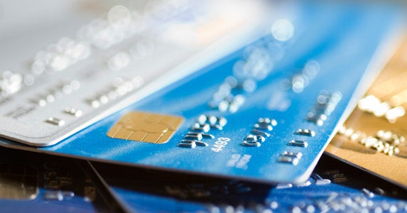 Lose the credit cards © iStock