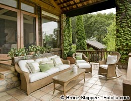 Patio furniture, BBQ grills and perennials