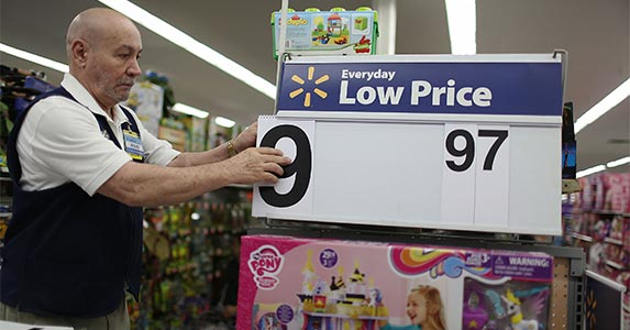 Collect discounts from Walmart | Joe Raedle/Getty Images