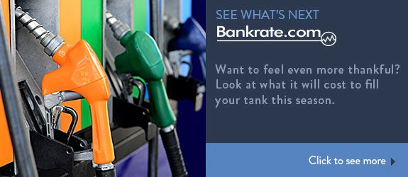 Want to feel even more thankful? Look at what it will cost to fill your tank this season. © afoto6267/Shutterstock.com
