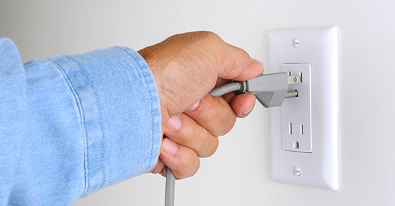 Leave the house unplugged © Steve Cukrov/Shutterstock.com