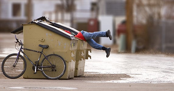 Dumpster diving in cemeteries? © Stephen Mcsweeny/Shutterstock.com