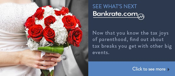 Now that you know the tax joys of parenthood, find out about tax breaks you get with other big events. © Elena Elisseeva/Shutterstock.com