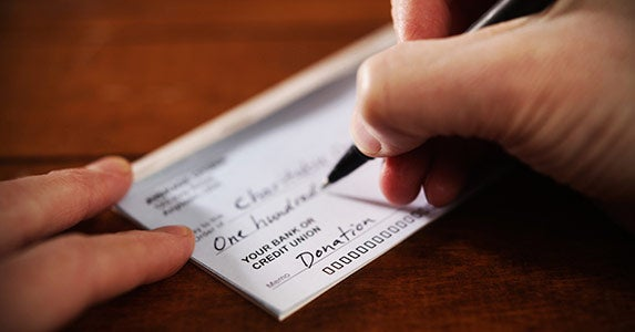 Give to charity © iStock