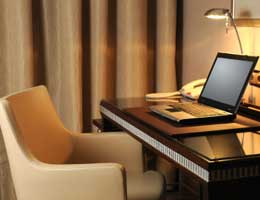 Hook up to hotel Wi-Fi for a fee