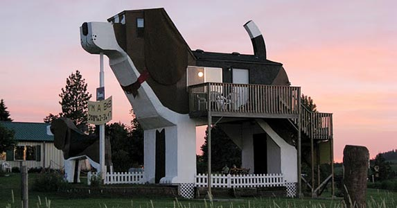 A howler of a hotel | Photo courtesy of Dog Bark Park