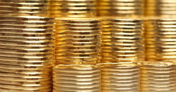 Stacks of gold coins © nevodka/Shutterstock.com