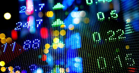 Stock market ticker charts
