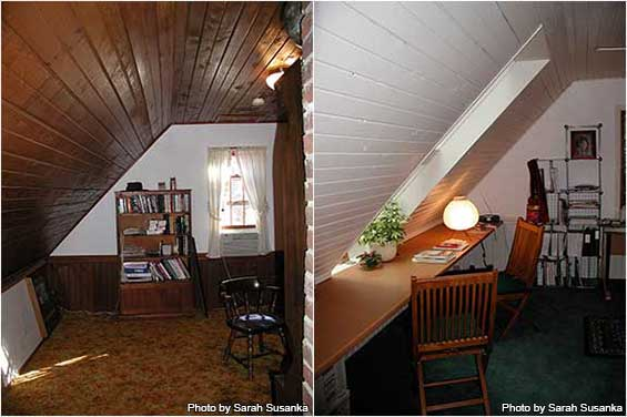 Sarah's inner office before and after first remodeling.