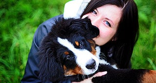 Dog with owner © LovelyColorPhoto/Shutterstock.com