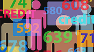 People and credit score numbers © Michael D Brown/Shutterstock.com
