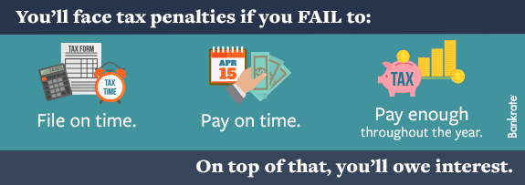 You'll face tax penalties if you fail to: © Bigstock