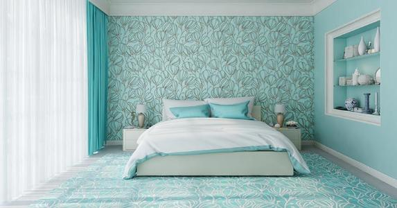 Stylish teal bedroom © alexandre zveiger/Shutterstock.com