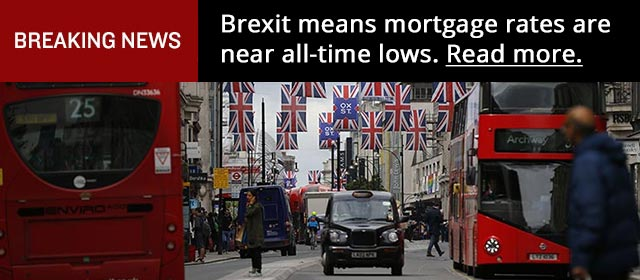 Brexit means mortgage rates are near all-time lows