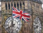 Union Jack flag in front of Big Ben | Barcroft Media/Getty Images