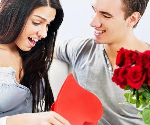 Woman excited by boyfriend's Valentine's Day gift | skynesher/E+/Getty Images