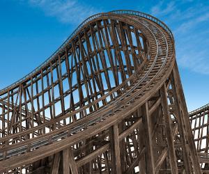 Wooden rollercoaster © iStock